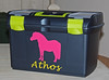 Boîte de pansage personnalisée (Sellerie CPNB Personnalisation) Tags: boîte coffre pansage matériel adhésif couleur nom motif cheval poney équitation cavalier logo écurie élevage club personnalisé