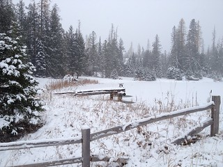 First Snow Cottage Country
