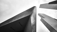 trialog (Blende1.8) Tags: rotterdam centraal station bahnhof netherlands skyscrapers buildings gebäude hochhäuser sky himmel city urban cityscape architecture architektur modern modernearchitektur contemporary carstenheyer sony alpha ilce7m2 a7ii a7m2 voigtländer voigtlaender 10mm ultraweitwinkel wideangle mono monochrome monochrom hyperwideheliar