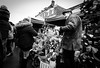 Gotcha (Bone Setter) Tags: bridgnorth christmas market 2017 stall seller del boy fur coat hat trader