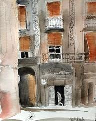 Carrer de l'Hospital (Encarna Boada) Tags: enkartist sketchers ink watercolor street barcelona