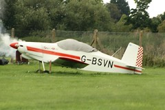 G-BSVN (IndiaEcho Photography) Tags: gbsvn thorp t18 egsf peterborough conington cambridgeshire light general civil aircraft aeroplane aviation canon eos 1000d