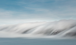 Cloud Inversion, Freathy Cliffs ( colour )