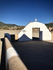 Shadow at Taos Pueblo (kimbar/Thanks for 3.5 million views!) Tags: taospueblo taos pueblo church gate shadow newmexico
