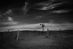Outback (SawardPhotography) Tags: outback australia windmill rustic old bw dramatic sky gawler buckleboo south fence
