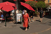Boulevard du Roi René - Aix-en-Provence (France) (Meteorry) Tags: europe france côted'azur paca bouchesdurhône aix aixenprovence june 2017 meteorry boulevardduroirené candid gambetta rueditalie restaurant laixcale madame femme woman red rouge street rue streetscene parasols