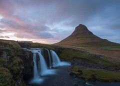 Iconic Kirkjufell (Waldemar*) Tags: europe iceland snæfellsnes peninsula grundarfjörður mountain kirkjufell churchmountain kirkjufellsfoss waterfall sunset river clouds longexposure sky 65°north 65°n arrowheadmountain gameofthrones