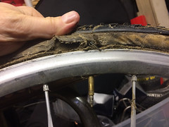 one dead dugast (dolanh) Tags: dugast tubular rim carcass tubulartire rotted tire