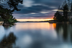 Hot and Cold (tomi.aalto) Tags: finland espoo suomi sunset sun clouds sea water trees movingwater nd500 colourful longexposure nature flickr autumn fall environment reflection travel outdoor island sky cityscape landscape hot cold