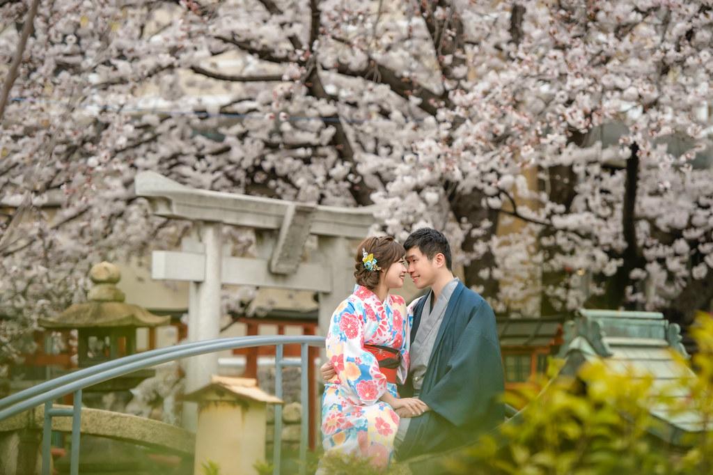 京都婚紗 六孫王神社 和服婚紗拍攝