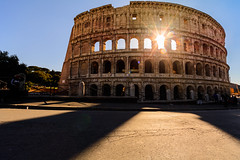Colosseum Sunset - Rome (Colosseo) (andrebatz) Tags: coliseum colosseo coliseu rome roma italia italy romans ancient history sunset blue golden hour hora de ouro por do sol sightseeing travel photography famous places landscape sky backlight shadows contrast nikon d7100 sigma lens colosseum flavian amphitheatre anfiteatro flavio theater arena gladiator sun tourist attraction architecture old world atraction monument