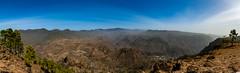 Gran Canaria II (janmalteb) Tags: kanaren canaries gran canaria mountains berge hiking wandern himmel sky panorama montana de tauro trees bäume blauer clouds wolken steine rocks valley tal canon eos 1000d weitwinkel ultra wide angle lens