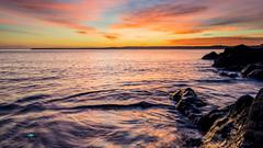 Polkerris, Cornwall, UK (jpearce2307) Tags: polkerris cornwall southcornwall coast harbour small par staustell sunset sundown sea seascape water ocean hightide
