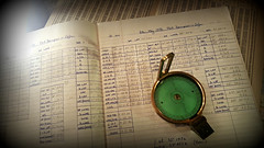 Where am I ? (PentlandPirate of the North) Tags: navigation stars sun calculations sights compass direction haversines latitude longitude handwriting magnetic