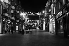Across Pride hill (Sundornvic) Tags: shrewsbury light dark night bw
