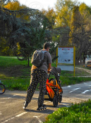 ▲ ►•☛daddy daddy cool☚•◄▲ (SheAna(Thank you kindly for over 188K View's!)) Tags: dady rollerskates autumn photography