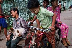Rickshaw - Yangon, Myanmar (Maciej Dakowicz) Tags: asia myanmar burma yangon city street children fujifilmxseries fujifilmxt2