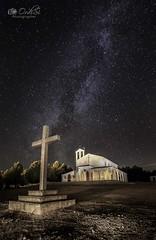 Vía Láctea en Santa Mónica (Ordisi fotografía) Tags: víaláctea ordisi nocturnas ermita cruz milky way milkyway