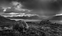 Torridon (Ade G) Tags: bw landscape rocks scotland weather clouds lakes loch mountains