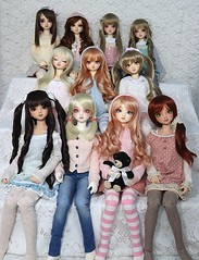 11 is a Crowd (Rikka_Mika) Tags: volks sd super dollfie superdollfie sdg sd10 sd9 girl girls coco cocos f60 sdf60 sunlight white normal skin fcs full choice system kurumi bjd abjd ball jointed balljointed doll dolls sisters collection crew
