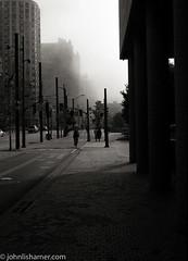 Downtown (johnlishamer.com) Tags: 2017 35mm canada ilforddelta100 lakeontario lishamer nikonf3 ontario slr toronto city film johnlishamercom roadtrip urban vacation