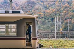 DSC_1834 (juor2) Tags: time off duty d4 nikon scene portrait train unatsukionsen toyama captain japan maple fog mountain rail railway