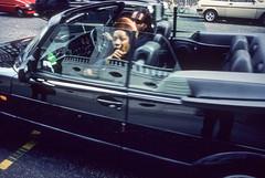 1990 london dreadlocks and saab convertible 01 (francois f swanepoel) Tags: 1990 cars dealers dreadlocks dreads dudes finger london rasta reflect saab semiselfie slidescans