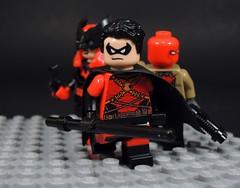 Team Red (MrKjito) Tags: lego super hero minifig comics comic dc rebirth universe batman detective red team robin batwoman hood tim drake jason todd katherine kate bruce wayne custom