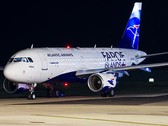 Atlantic Airways | Airbus A319-115 | OY-RCG (Bradley at EGSH) Tags: egsh nwi norwichairport norwich canon70d norfolk night nightphotos nightphotography darkness longexposure tripod aviation aircraft plane photgraphy atlanticairways airbusa319115 oyrcg a319