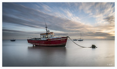 Thorpe Bay (robert.french57 French Images) Tags: e64 l1050687 thorpe bay southend rjf sl essex jamie boy red slow shutter speed f22 sunset fishing lee filters leica