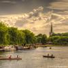 Jolly Boating Weather (chrisfay55) Tags: stratforduponavon warwickshire england uk boating church river boats