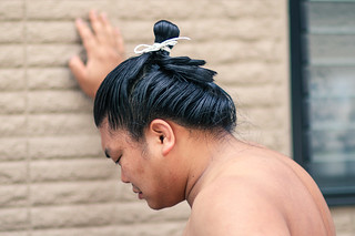 Sumo fighter hairstyle