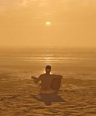 Golden Tunes (Stachmo) Tags: golden tunes watch dogs 2 watchdogs guitar beach sunset san francisco nvidia ansel video game gaming screenshot digital art