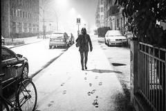 early steps on fresh snow (gato-gato-gato) Tags: leica leicammonochrom leicasummiluxm35mmf14 mmonochrom messsucher monochrom schnees schweiz strasse street streetphotographer streetphotography streettogs suisse svizzera switzerland zueri zuerich zurigo black city digital flickr gatogatogato gatogatogatoch rangefinder snow streetphoto streetpic tobiasgaulkech white wwwgatogatogatoch zürich ch manualfocus manuellerfokus manualmode strase onthestreets mensch person human pedestrian fussgänger fusgänger passant sviss zwitserland isviçre zurich