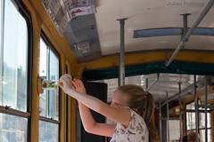 Inchecken (Julian Hofmans) Tags: tram inchecken checkingin ukrain lviv streetlife