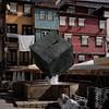 streets of porto - cubed (dan.boss) Tags: praçadaribeira bronze ribeirasquare sculpture cube fountain classicchrome x100f street porto portugal