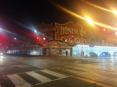 Honest Ed's at night (1) #toronto #bloorstreet #bloorstreetwest #night #abandoned #demolition #mirvishvillage (randyfmcdonald) Tags: bloorstreet abandoned mirvishvillage bloorstreetwest demolition toronto night