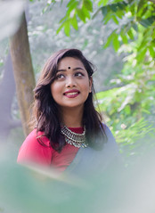 Close to The Nature (MashrikFaiyaz) Tags: blue portrait tree forest trees plants nature background backlight natural light original sunlight sunny sunshine green outdoor november dhaka asia bangladesh southasia nikon d5300 noon sweet cute beauty beautiful glamour gorgeous posing smiling saree dress getup outlook girl lady woman female model fashion attractive eyes lips hair smile flickrunitedaward