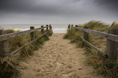 Les vacances à la mer (Fe.s) Tags: beach landscape tempest bad weather belgium winter blankenberge sand dune d7200 nisi filters