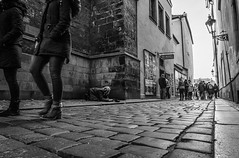 Walk on (mirri_inc) Tags: street europe tourism poverty begging spending travel prague czech tourists old man bnw black white monochrome composition blackandwhite sony reality bw perspective pov portrait streetphotography sad poor