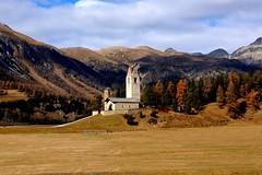 San Gian Church (annalisabianchetti) Tags: church chiesetta celerina engadina switzerland svizzera mountains montagne alps travel paesaggio landscape autumn autunno beauty