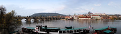 Panorama view of Charles Bridge and castle district (YG Low) Tags: fujifilm x30 travel prague cities europe