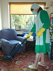 Kelly Green Overall & Long Check Tabard 11C (Maid Janet) Tags: tabard overall pinny sissy sissymaid maid housemaid putzfrau rubber gloves rubbergloves cleaner cleaning headscarf bandana housework domestic housekeeping chores housewife tranny crossdressing crossdresser hoovering char charwoman housekeeper marigolds