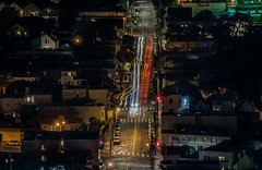 passage (pbo31) Tags: sanfrancisco california night dark black nikon d810 november 2017 boury pbo31 fall color lightstream motion traffic roadway over view bernalheights muni bus noevalley city urban pass