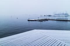 Bygdøy, Oslo, November 14, 2017 (Ulf Bodin) Tags: norway canonefm222stm oslo bygdøy canoneosm3 norge maritimtmuseum brygga outdoor jetty snö winter snow no sea water bay sky