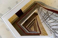 Dizzy (Nikonphotography D750) Tags: weitwinkel igershamburg hamburgmeineperle hamburg staircase treppe treppenhaus spiralstaircase hamburgstairs sony sonyphotography sonyalpha sonyalpha6000 sonyilce6000 downtown thisish architektur
