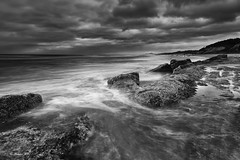 (Masako Metz) Tags: beach rocks waves clouds sky nature oregon coast pacific northwest usa america rainyseason landscape seascape water ocean sea coastline shore shoreline blackandwhite monochrome