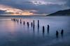 The Irish Sea (Hibernia Landscapes (sjwallace9)) Tags: groynes sunrise newcastle mournes mountains longexposure