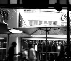 rockomamas (CatnessGrace) Tags: people city urban lights shadows lightsandshadows lighting decor restaurants mall bw blackandwhite streetphotography
