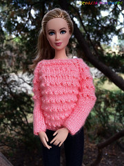 Hand-Knitted Bright Light Pink Sweater for Barbie girls (uliakiev) Tags: barbie barbiedoll barbiedollclothes barbieclothes barbiesweater barbiecollector barbiecollection barbiefan barbiefashion barbieclothing barbiedolls barbieshop barbiestyle barbiestream barbiecrochet barbieknit dollclothes dollsweater dollknitting